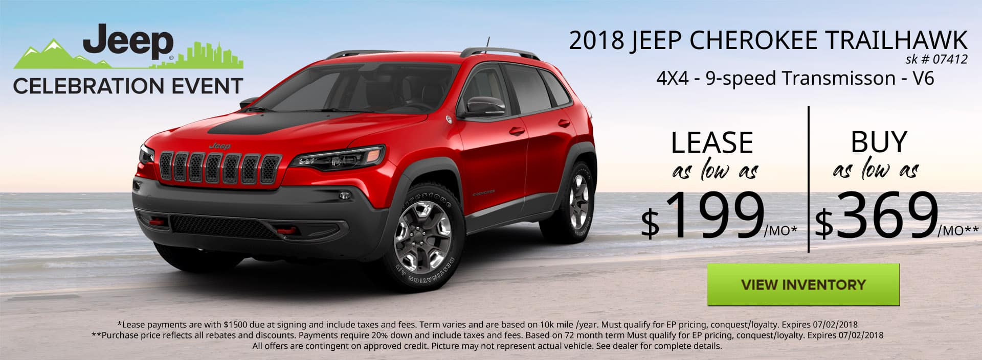 June 2018 Special Jeep Cherokee Trailhawk Special Discount