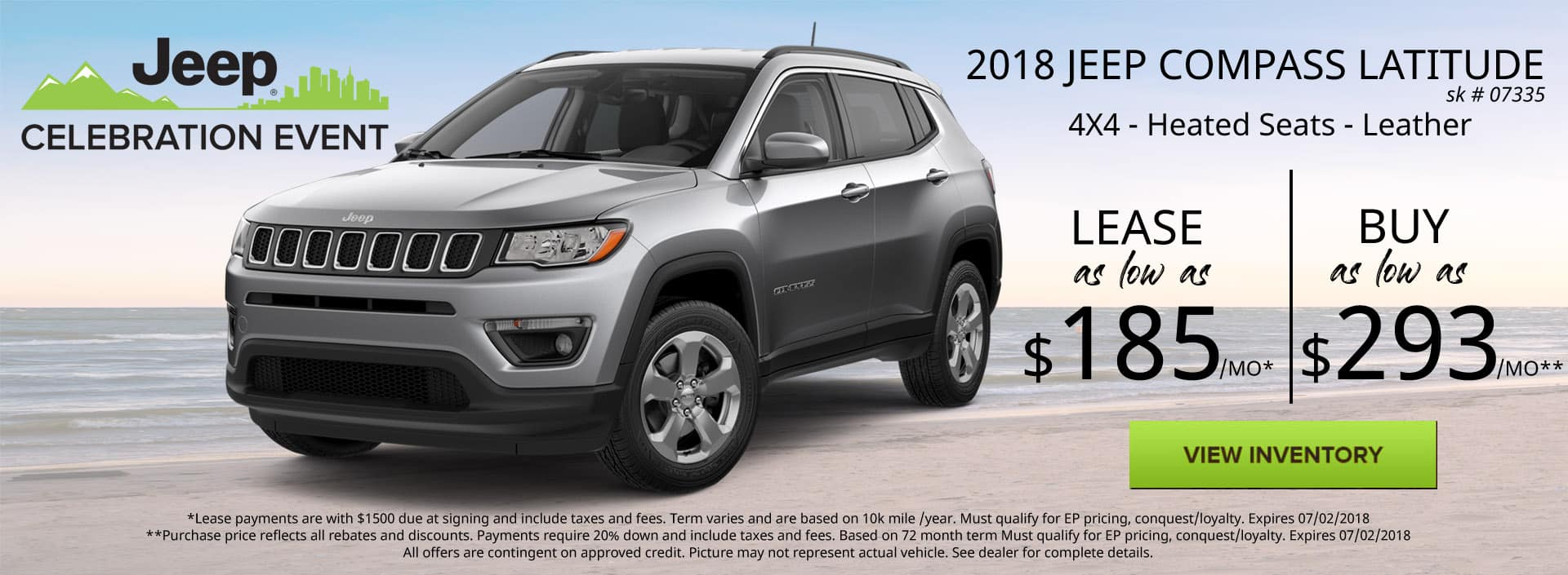 June 2018 Jeep Compass Latitude Special Discount