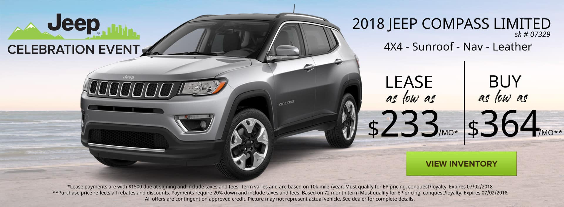 June 2018 Jeep Compass Limited Special Discount