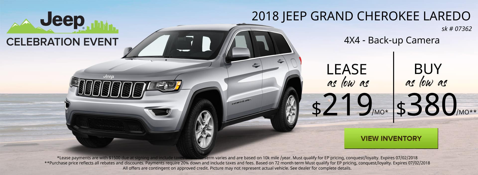 June 2018 Special Jeep Grand Cherokee Laredo Special Discount