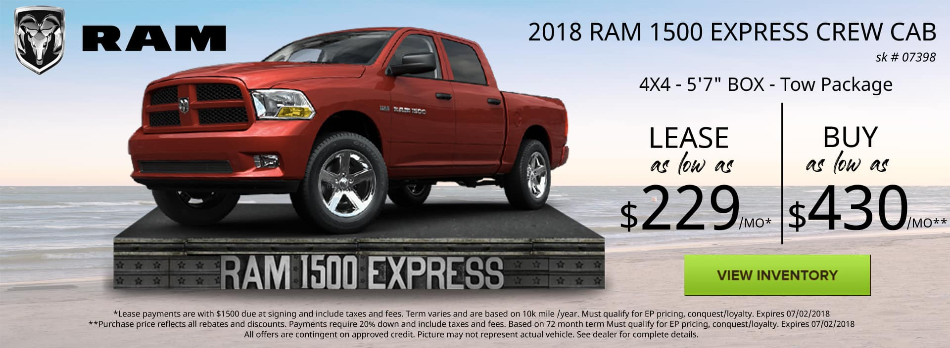June 2018 Special Ram 1500 Express Special Discount