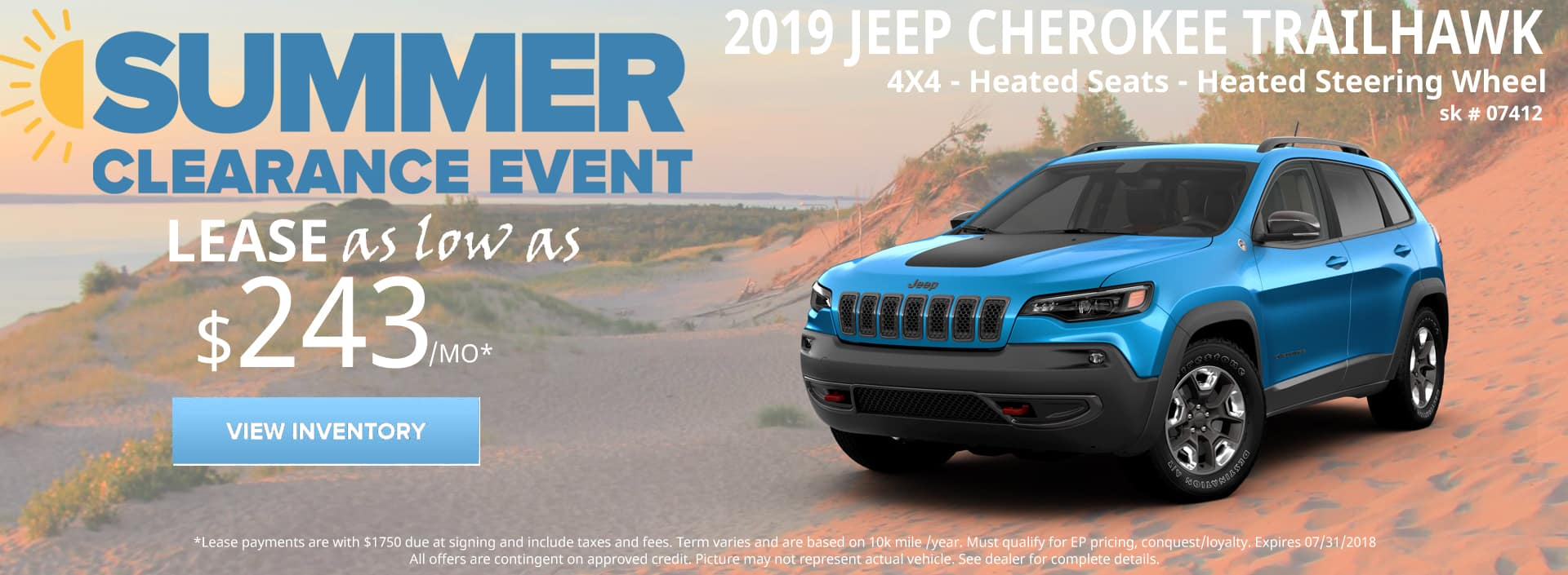 July 2018 Special 2019 Jeep Cherokee Trailhawk