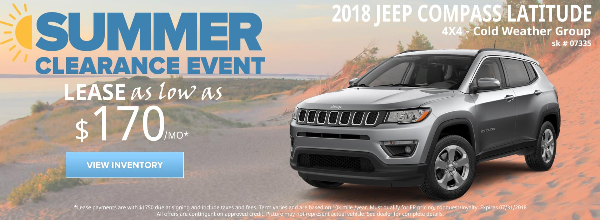 July 2018 Special Jeep Compass