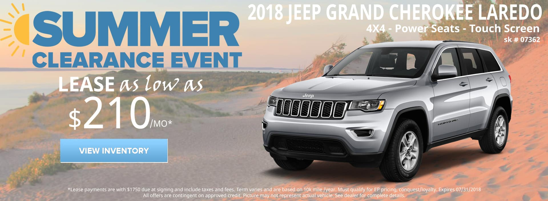 July 2018 Special Jeep Grand Cherokee Laredo
