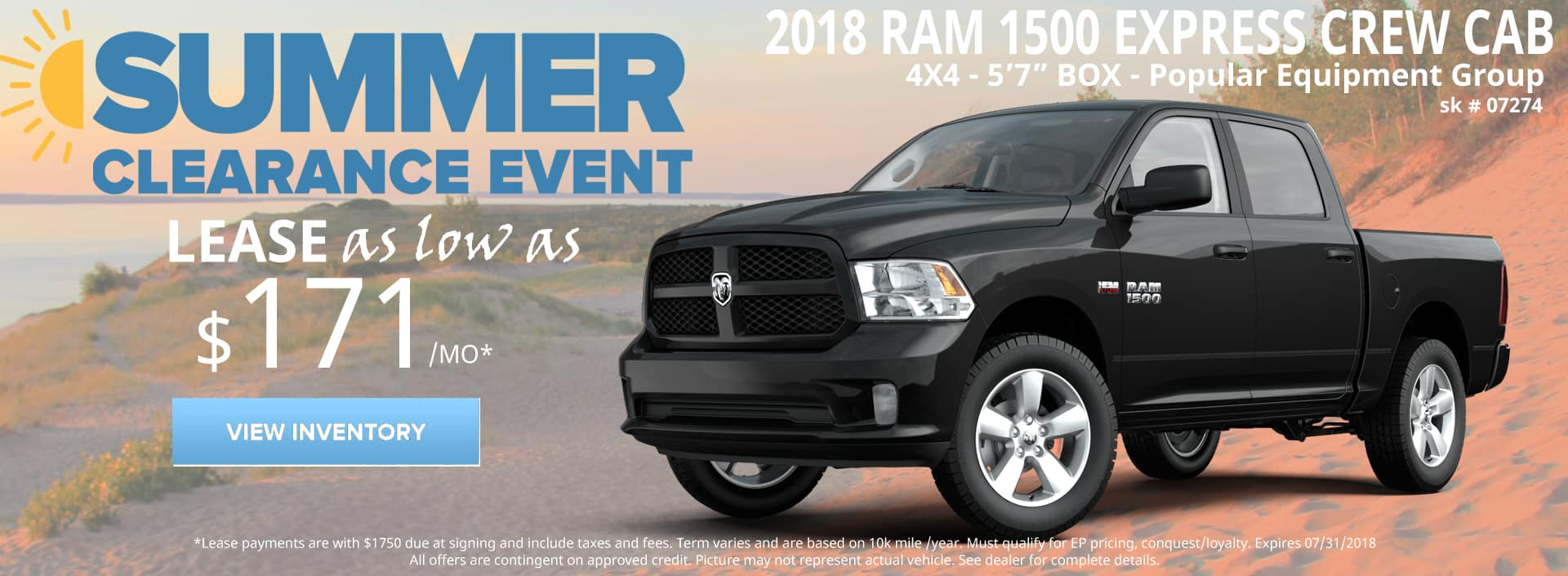 July 2018 Special Ram 1500 Crew Cab Express