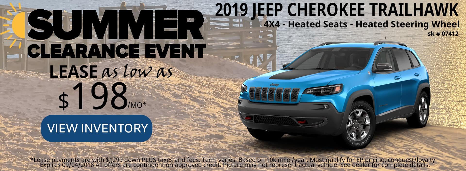August 2018 Special Jeep Cherokee deals