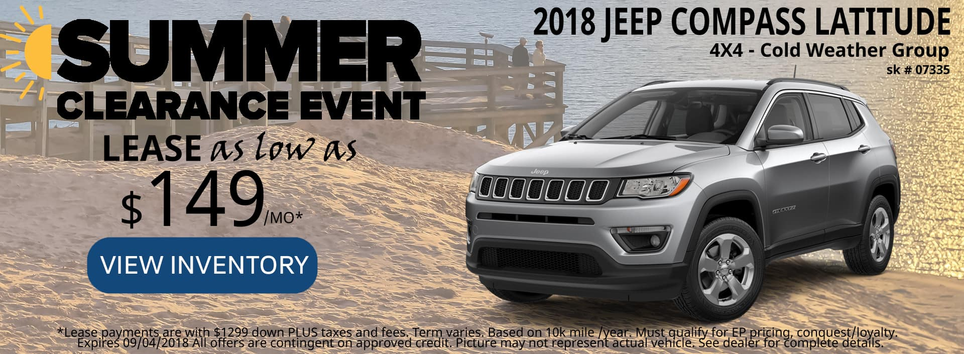 August 2018 Special NEW Jeep Compass