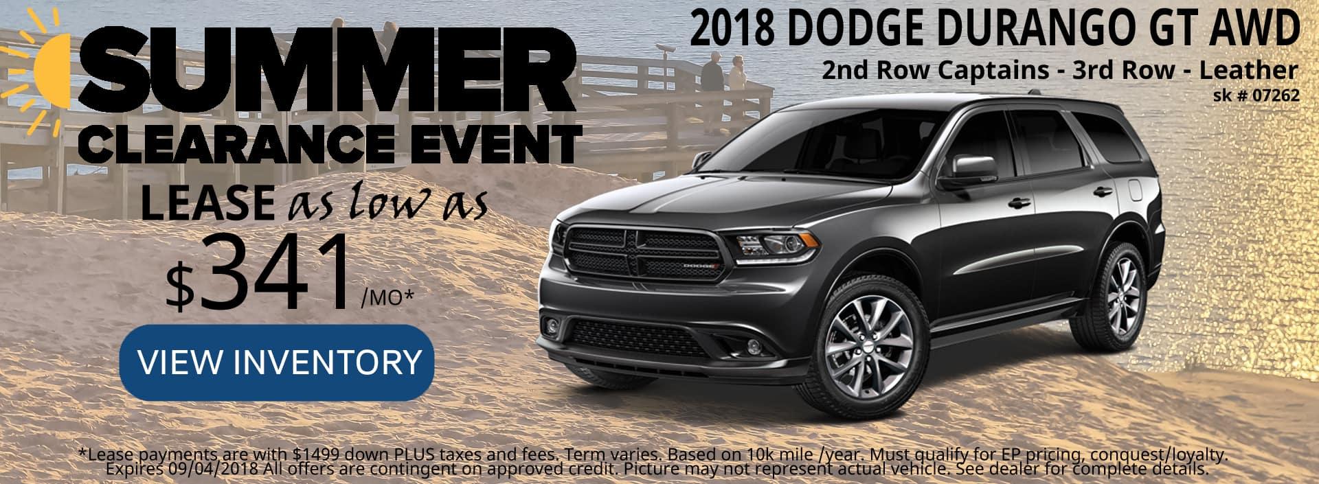 August 2018 Special Dodge Durango GT