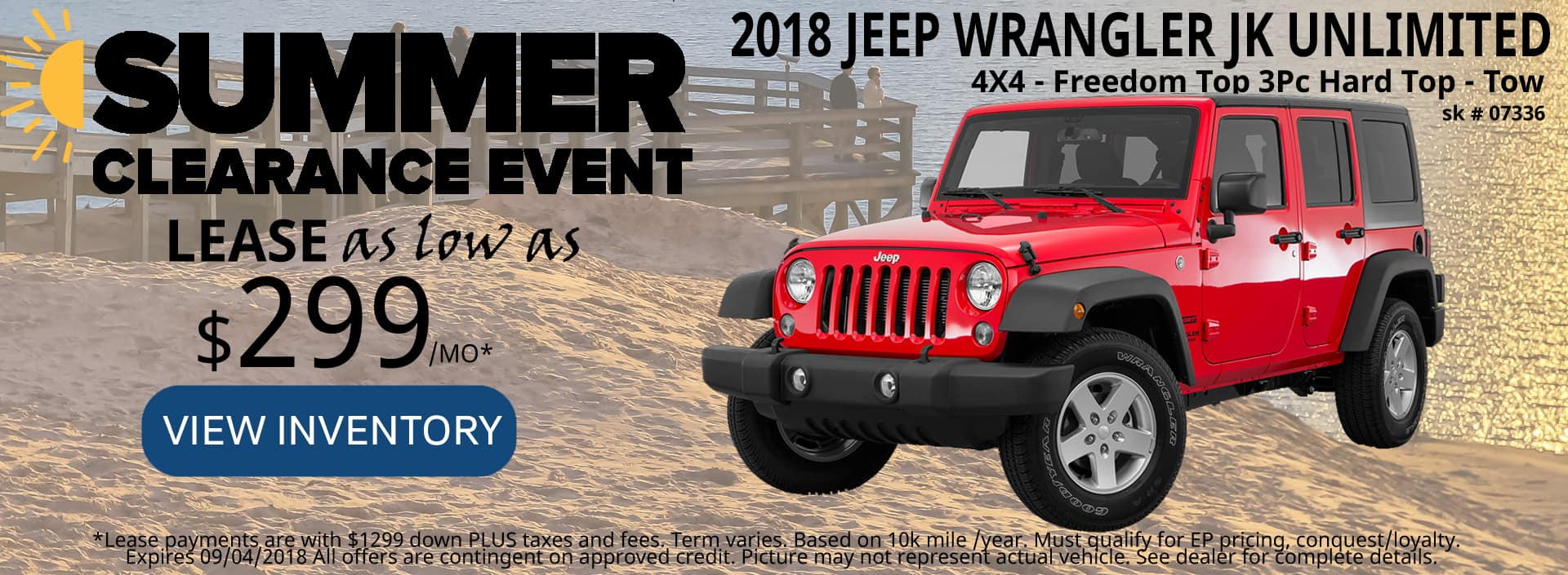 August 2018 Special Jeep Wrangler Unlimited