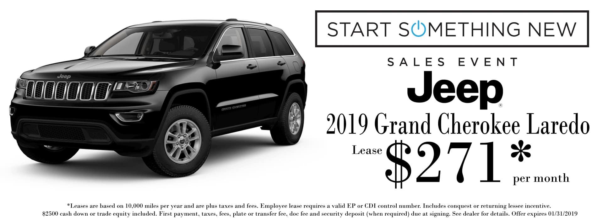Jan 2019 Grand Cherokee Lease Special