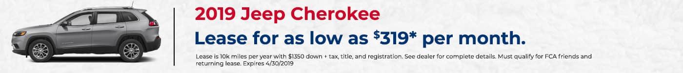 Cherokee Lease Offer April Alma CDJR