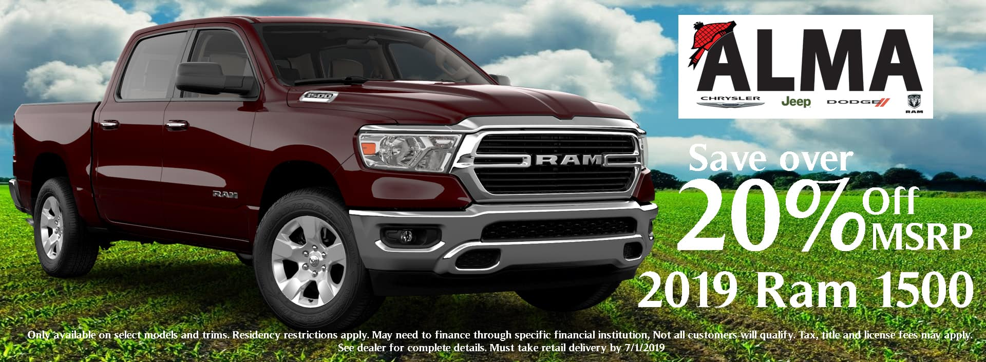 Save over 20% off MSRP on select Ram 1500s