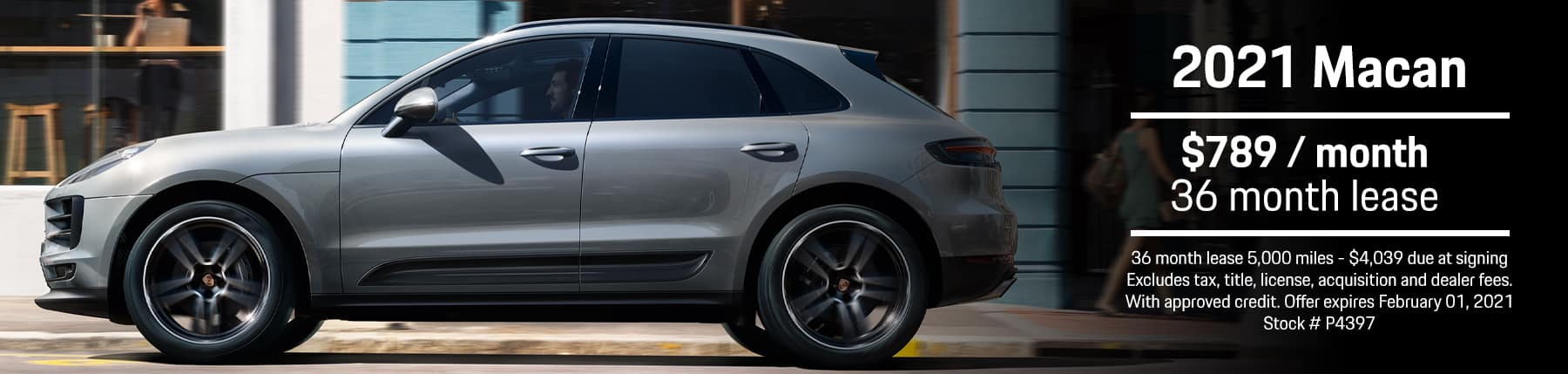 2021 Macan (Stock# P2397) Lease @ $789/month 36 month lease 5k miles.