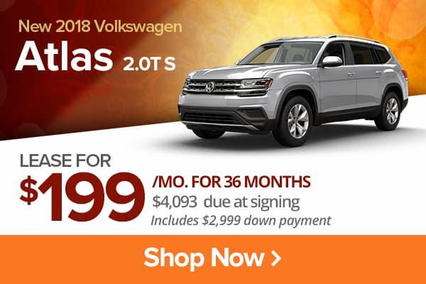 New 2018 Volkswagen Atlas 2.0T S