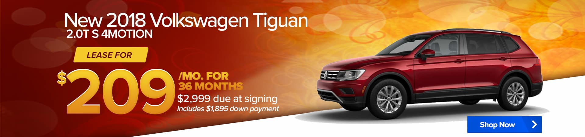 September special for the Volkswagen Tiguan Limited 4Motion.