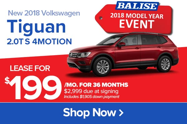 New 2018 Volkswagen Tiguan 2.0T S 4MOTION