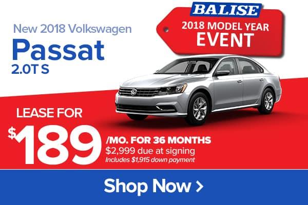 New 2018 Volkswagen Passat 2.0T S