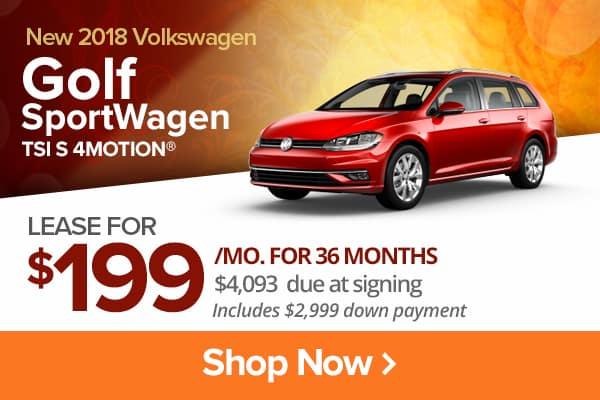 New 2018 Volkswagen Golf SportWagen TSI S 4MOTION®