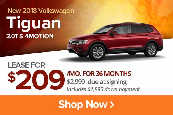 New 2018 Volkswagen Tiguan 2.0T S 4MOTION