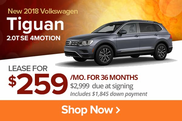 New 2018 Volkswagen Tiguan 2.0T SE 4MOTION
