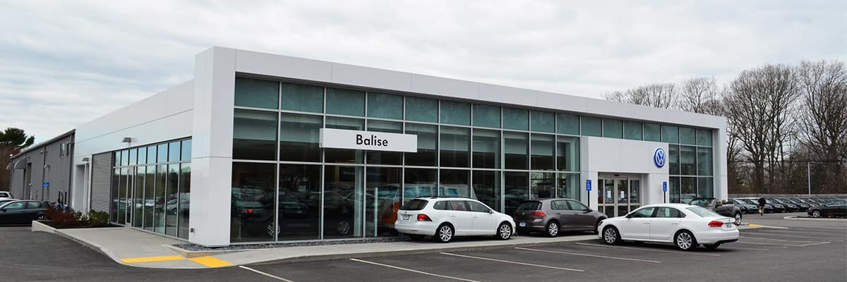 The Balise Volkwagen dealership exterior, proudly serving Warwick and the Greater Providence area.