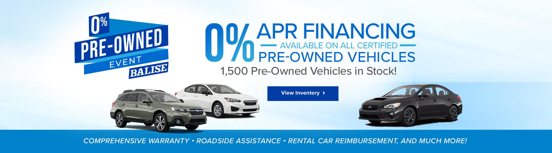 Zero percent financing on certified pre-owned vehicles