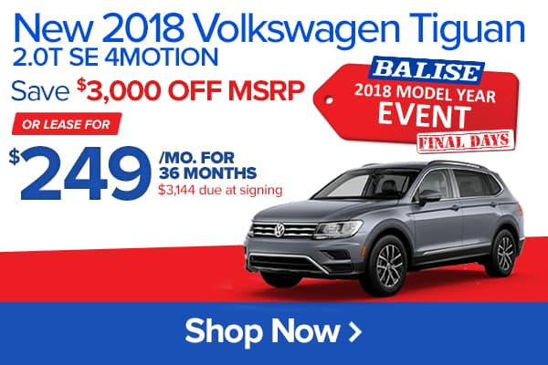 New 2018 Volkswagen Tiguan 2.0T SE 4MOTION