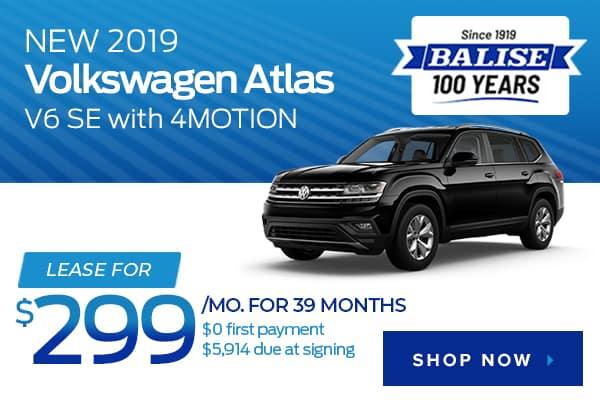 New 2019 Volkswagen Atlas V6 SE with 4MOTION