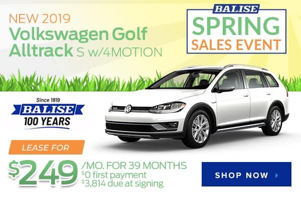 New 2019 Volkswagen Golf Alltrack S with 4MOTION