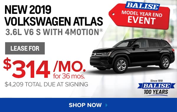 New 2019 Volkswagen Atlas 3.6L V6 S with 4MOTION®