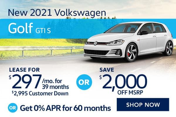 New 2021 Volkswagen Golf GTI S