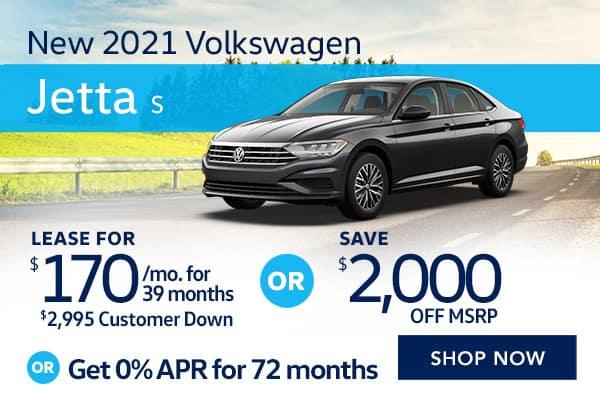 New 2021 Volkswagen Jetta S