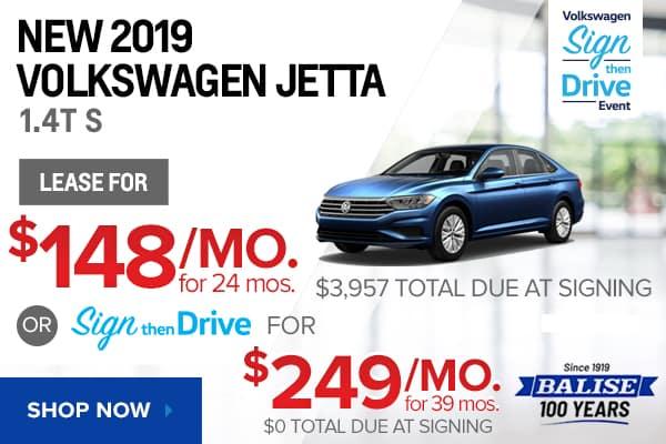 New 2019 Volkswagen Jetta 1.4T S