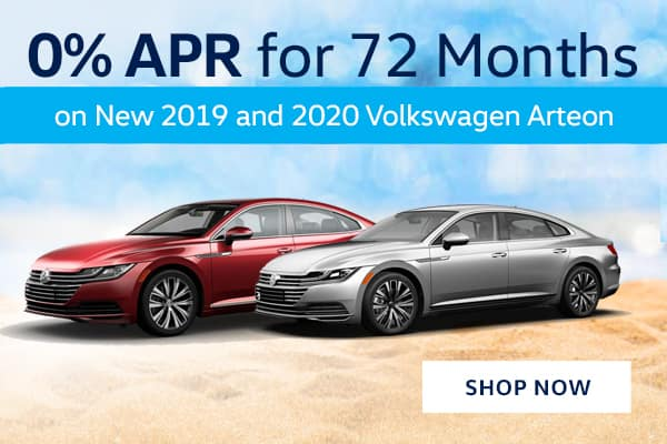 0% APR for 72 Months on New 2019 and 2020 Volkswagen Arteon