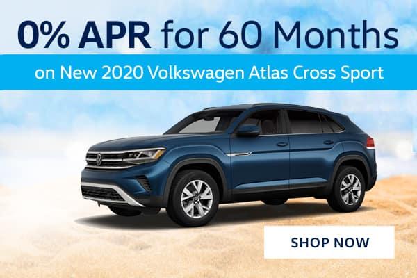 0% APR for 60 Months on New 2020 Volkswagen Atlas Cross Sport