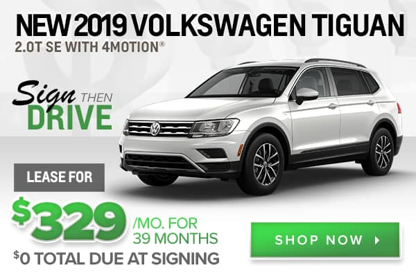 New 2019 Volkswagen Tiguan 2.0T SE with 4MOTION®