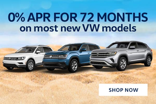 0% APR for 72 Months on most new VW models