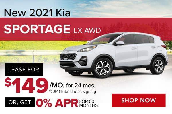 New 2021 Kia Sportage LX AWD