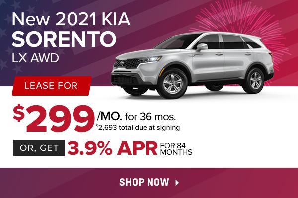 New 2021 Kia Sorento LX AWD