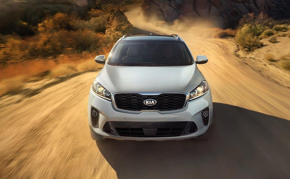 2019 Kia Sorento with AWD on a trail