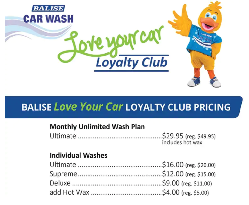 Balise Love Your Car Loyalty Pricing