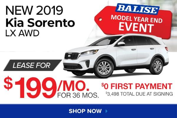 New 2019 Kia Sorento LX AWD