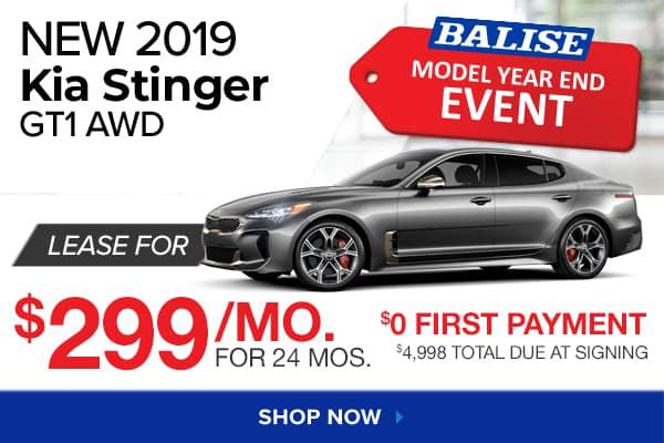 New 2019 Kia Stinger GT1 AWD