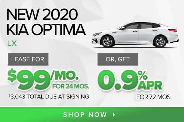 New 2020 Kia Optima LX