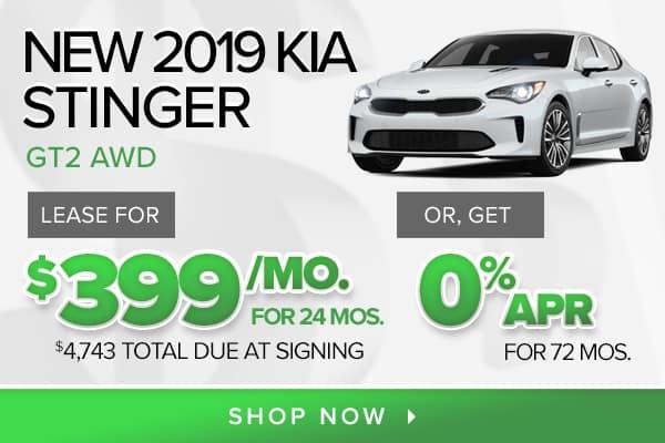 New 2019 Kia Stinger GT2 AWD