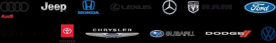 2 rows of car brand logos