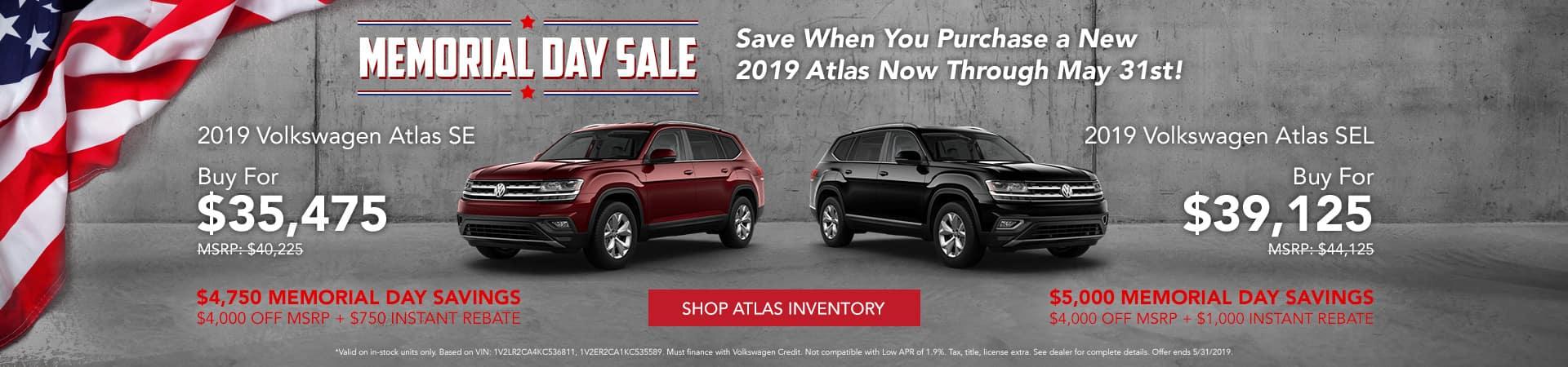 Memorial Day Sale at Baxter Volkswagen La Vista