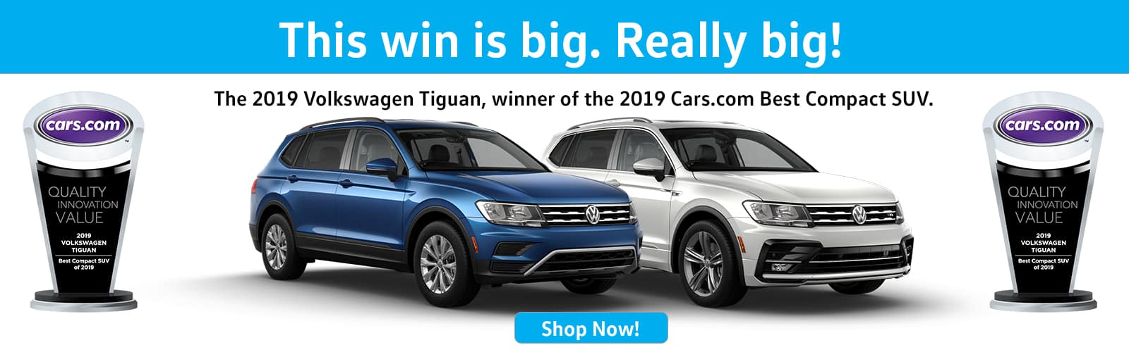 2019 Tiguan Wins Cars.com Best Compact SUV