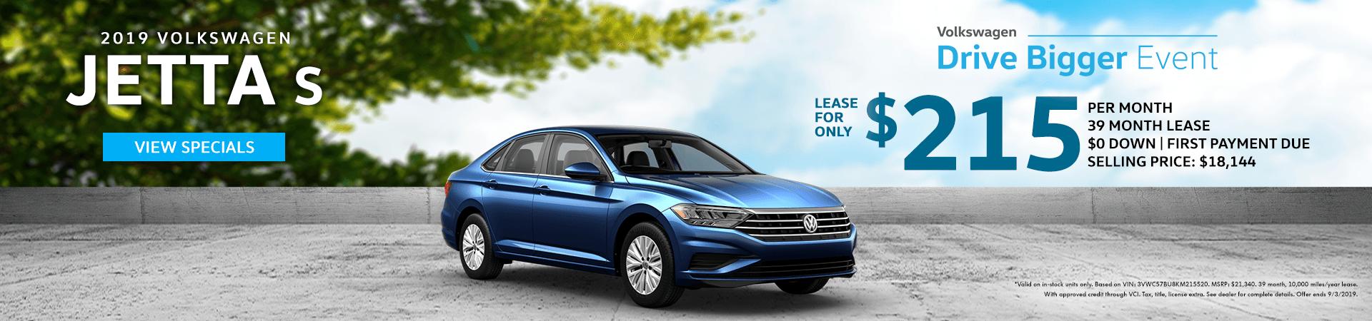 Drive Bigger Sales Event - 2019 Jetta