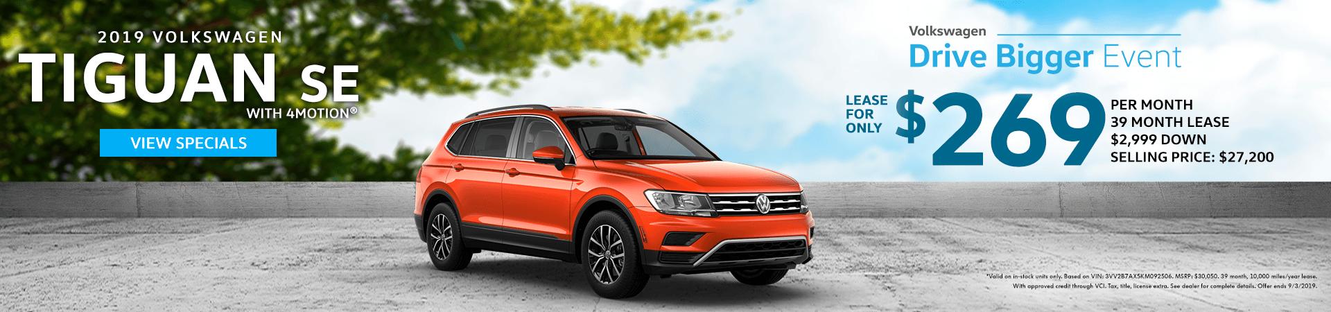Drive Bigger Sales Event - 2019 Tiguan